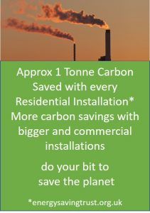 1T Carbon Saved per installation